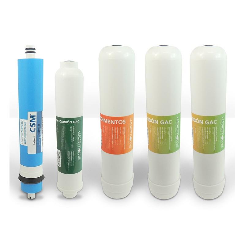 Pack 4 filtros linea más membrana CSM Waterhome