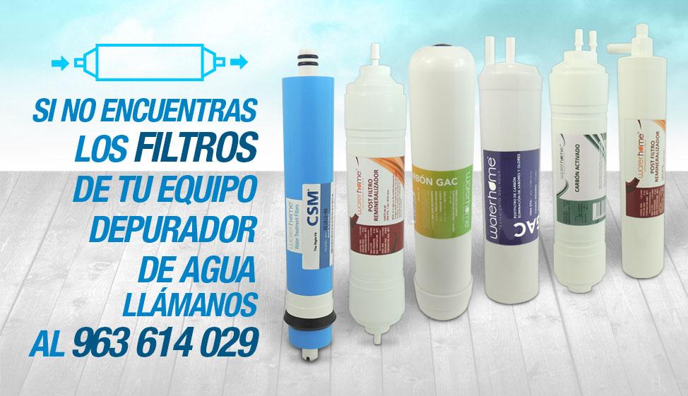 Filtros depurador de agua